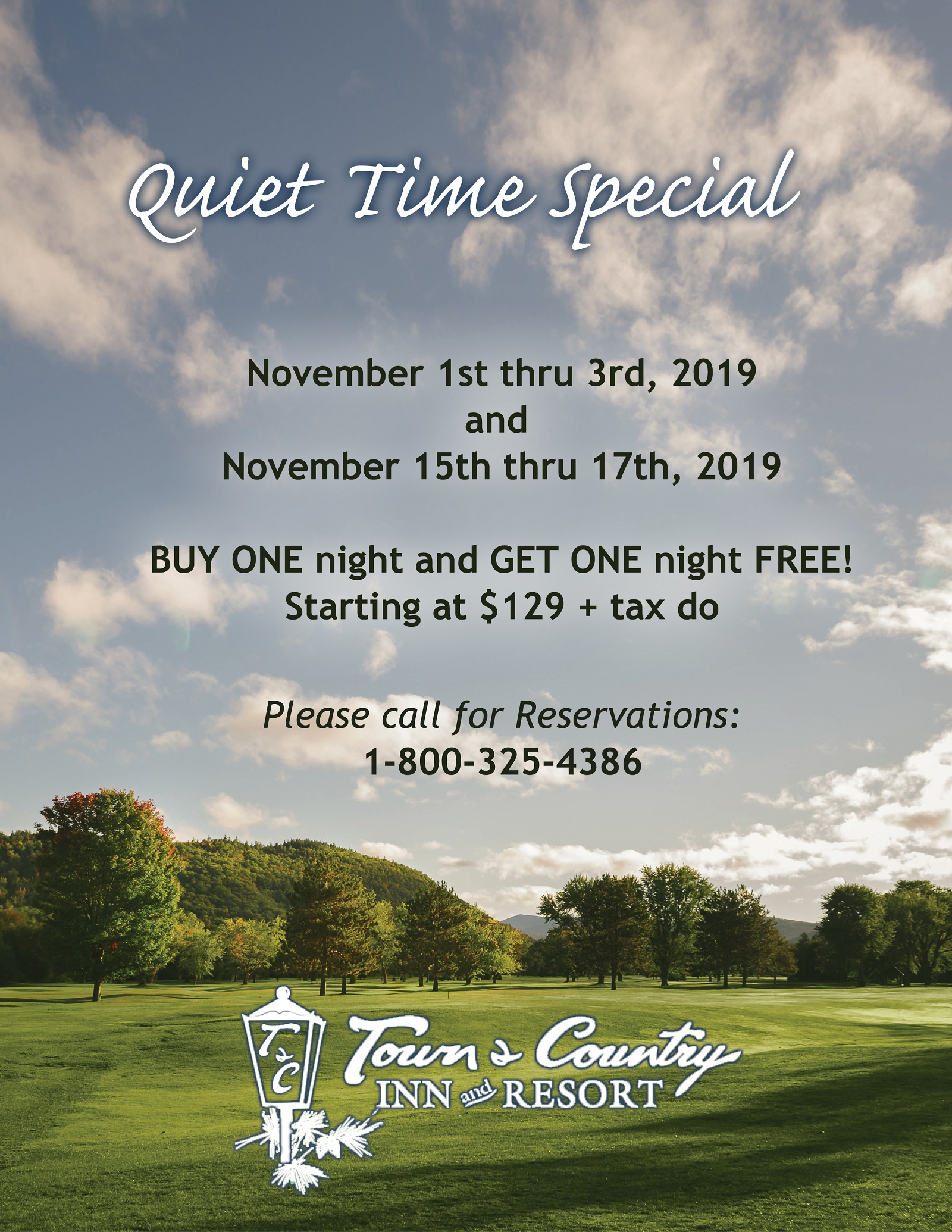 Fall Two-for-One Special Offers